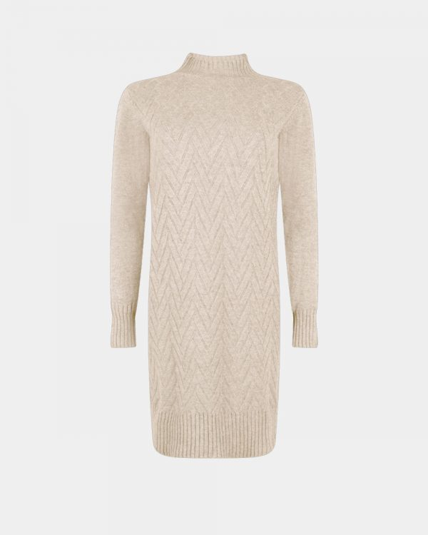knitted dress wool white