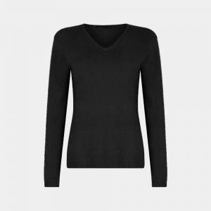 v-neck sweater black