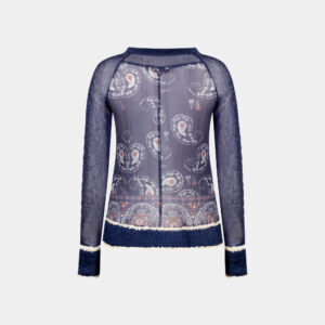 top knit blue back