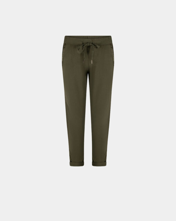 City Jogging Pants Army Green front