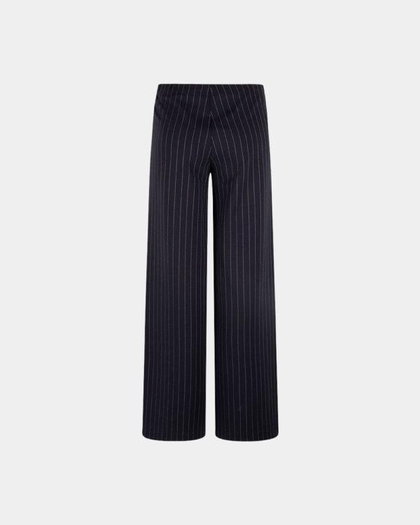 pinstripe wide pants navy back
