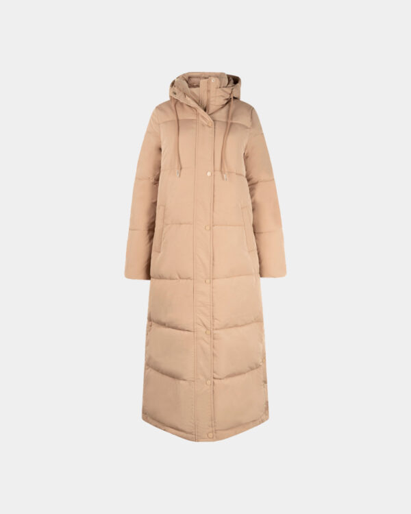 long padded coat with hood