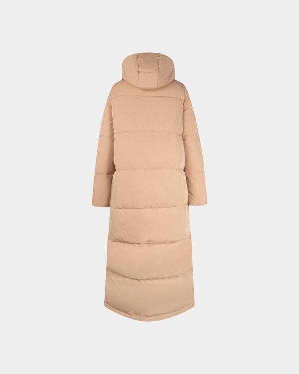 long padded coat with hood back