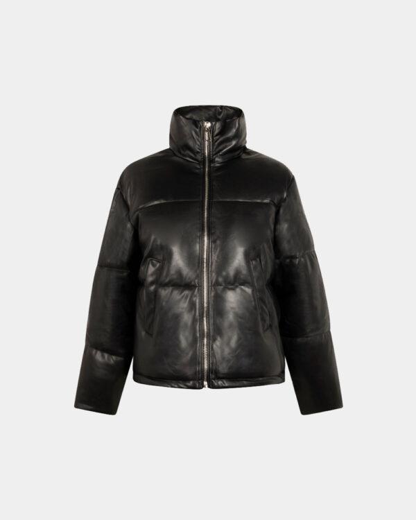 black short padded jacket