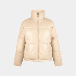 short padded jacket sand