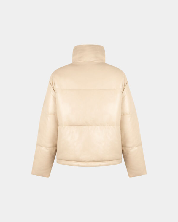short padded jacket sand back
