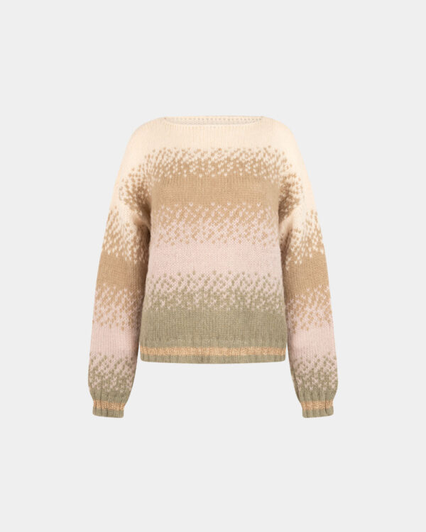 loose fit khaki color mohair sweater