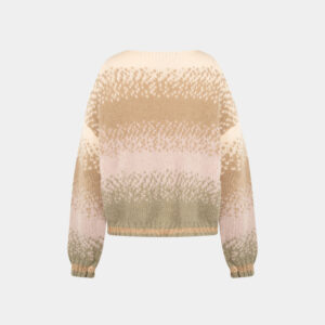 loose fit kaki color mohair sweater back