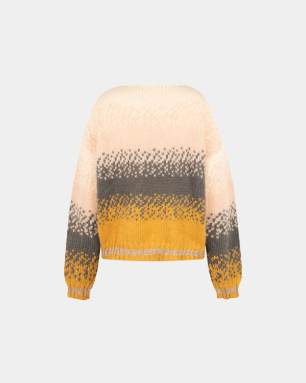 loose fit yellow color mohair sweater