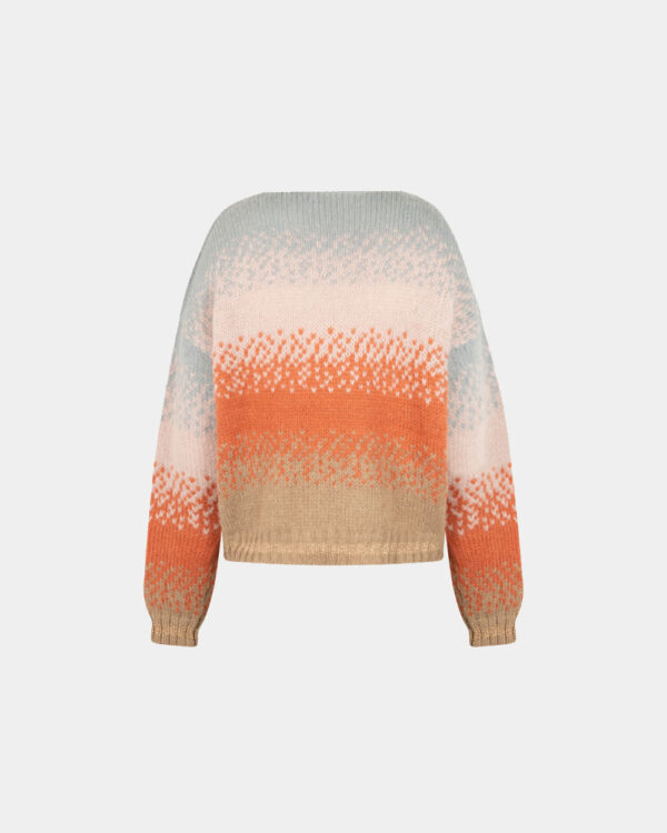 loose fit orange color mohair sweater