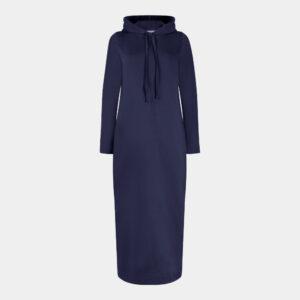 navy hoodie dress front