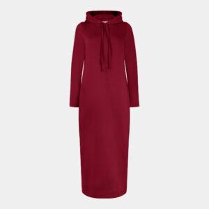 prune hoodie dress front